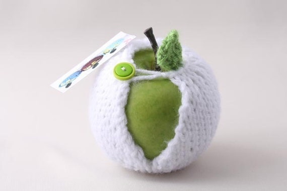 Apple cozy- Geeky, Snack Bag, Teacher Gift Appreciation, Gift for Friend, Birthday Gift Idea, Gift for Him, Mother's Day, Father's Day Gift