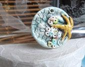 Handmade Focal Bead Starfish Barnacle Designer Ceramic