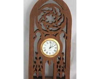 Mahogany Scroll Saw Clock