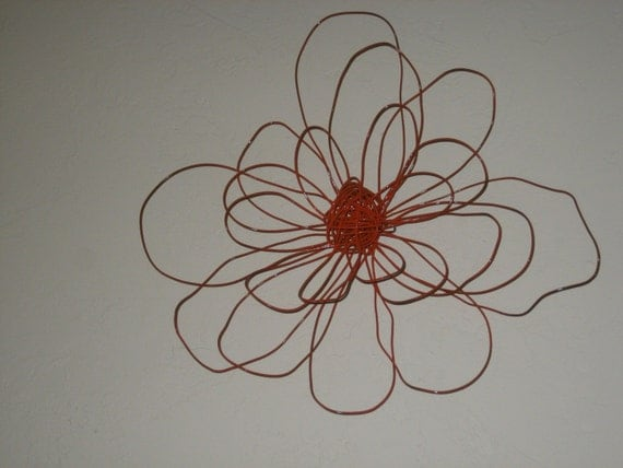 Wire Flower Wall Art By Wallflowers27 On Etsy