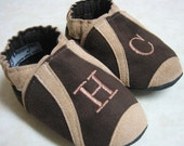 Monogrammed Sport (Choose Own Colors) - Soft Sole Baby Shoes
