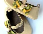 Baby Leather Mary Jane Moks