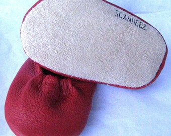 Red Baby Leather Moks