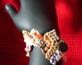 RESERVED multi color wrist cuff 2 (recycled plastic)