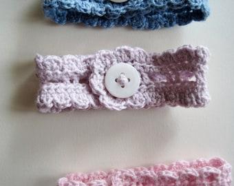 Cotton Lace Wrist Cuff in Palest Lilac - the Rustic Romantic Button Cuff