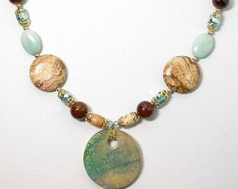Jasper Amazonite Necklace - Scenes from the Desert