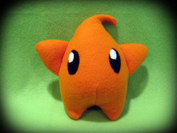 Mario Galaxy Luma Plush - Orange - 6in