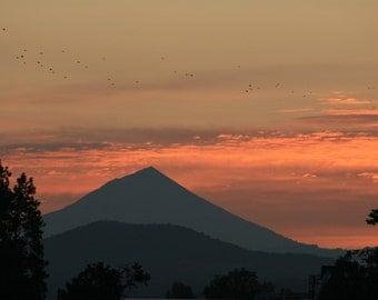 Rising Mount McLoughlin - 5x7 Fine Art Photograph