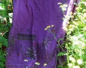 Vintage Blue Fish hand dyed & painted skirt M Wild Thyme