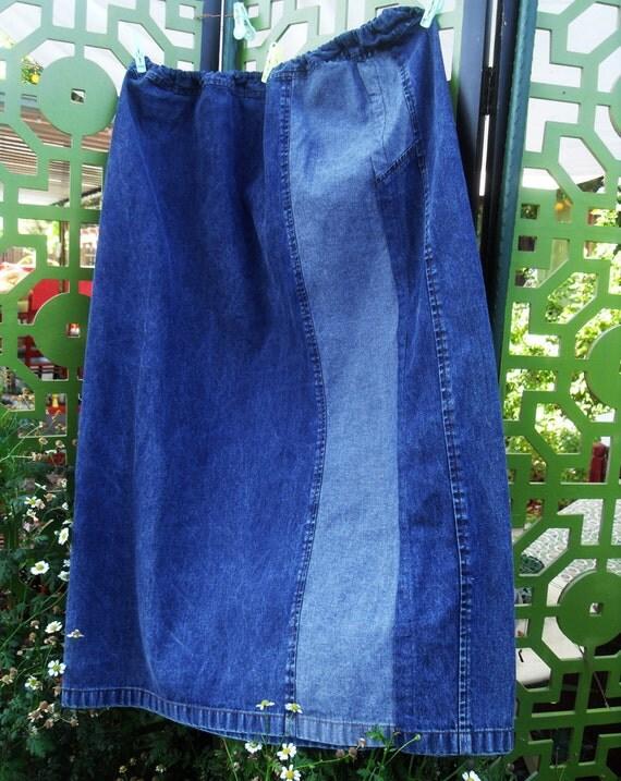 Women Plus Pencil Skirt Denim 1X 2X 18 20 Forever in Blue Jeans