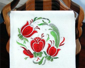 Rosemaling Tulip Dish Towel