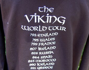 Viking World Tour Hoodie Sweatshirt Zippered Jacket