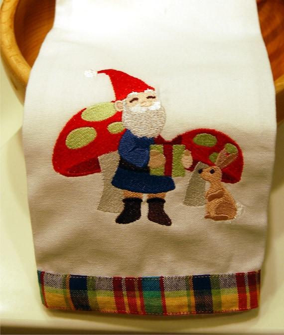 Garden Gnome with Gift Dishtowel