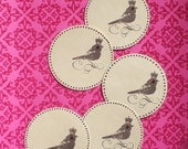 Oiseau Royale Gift Tags or Journalling Spots Set of 5