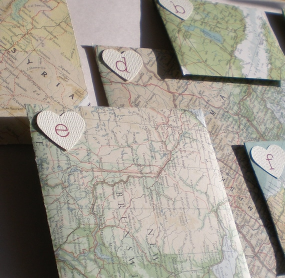 Make Your Own Envelope Set From Beautiful Vintage Maps