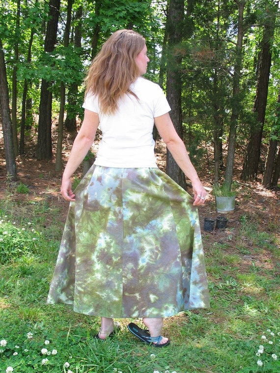 Woodland organic cotton hemp long skirt