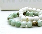 Green Aventurine Bracelet: mossy woodland / holidays / stocking stuffer / for her / under 35