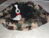 Faux Fur Snuggle Pouch Bed for Dogs or Cats