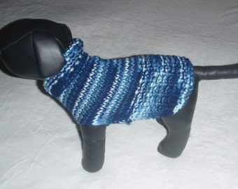 Blue and White Chihuahua Dog Sweater