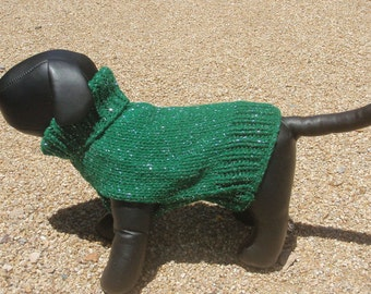 Min Pin  Dog Sweater  Hand Knitted.