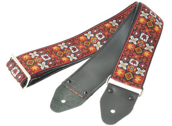 """Souldier """"Jimi Hendrix 1969 Woodstock"""" Vintage Handmade Guitar Strap"""