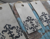 30 Damask Hang Tags