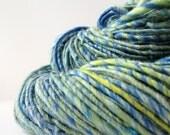 FREE SHIPPING Handspun Yarn, Merino Wool Blend Corespun Art Yarn, 172 yards/ 5 oz Summer Breeze