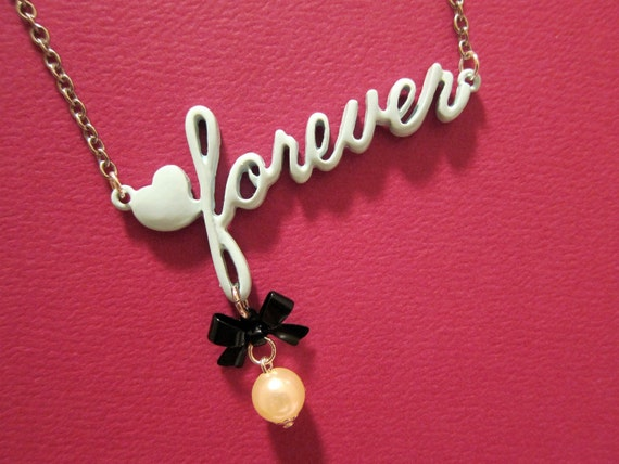 Love Forever Necklace in Tiffany Blue