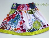 One of a Kind Skirt, Tropical Garden, Size 4