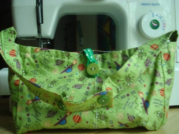 Green Outer Space Purse