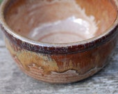 1 golden honey brown bowl with hints of burgundy- ceramic-pottery-handmade -in stock