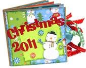 SALE  Premade Scrapbook - Christmas 2011 Paper Bag Album