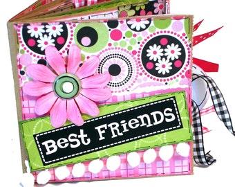 Best Friends Scrapbook - Premade Scrapbook - Best Friends Paper Bag Album