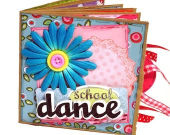 School Dance Premade Scrapbook - Paper Bag Album