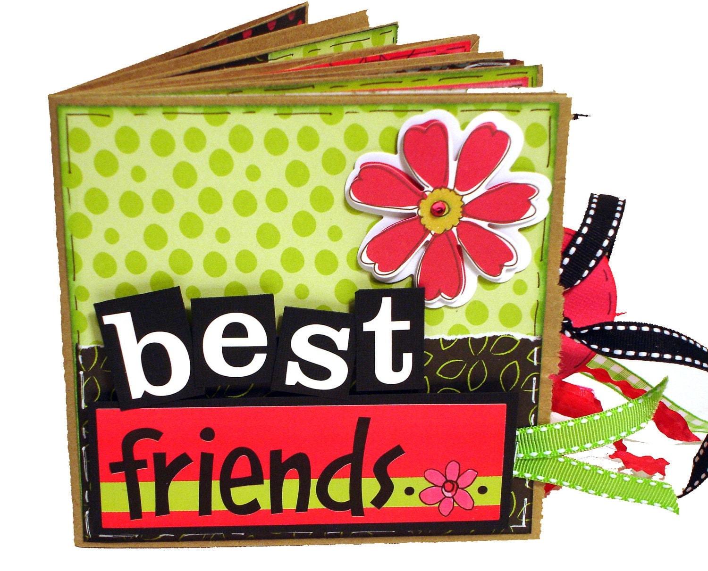 Best friend scrapbook ideas -  Best Friends Premade Scrapbook Paper Bag Album Zoom