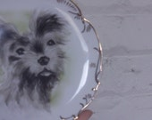 Vintage Hand Painted Dog Plate Made in Japan
