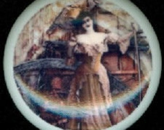 After Midnight Victorian STEAMPUNK Fancy Zombie LADY Ceramic Drawer Knobs