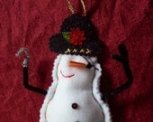Pirate Snowman Christmas Ornament