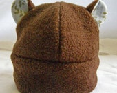 Fleece Brown Bear Hat- made to order- child to adult