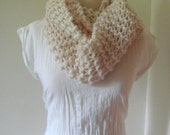 Unisex Infinity Scarf/Cowl in Creme SALE WAS 38 NOW 20
