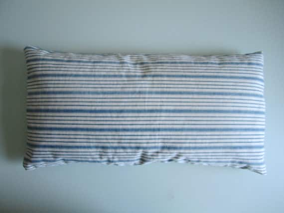 Vintage Ticking Stripe Pillow with Down Insert