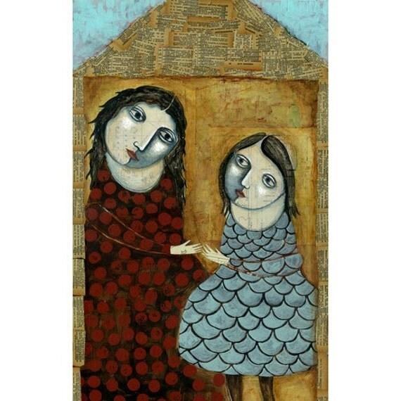 "Shelter Original Painting 24"" x 14"""