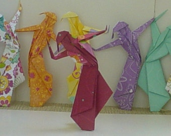Five Ladies Dancing - Origami Nymphs