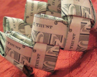 Origami Money Dollar Bill Trust And Independence Bracelets