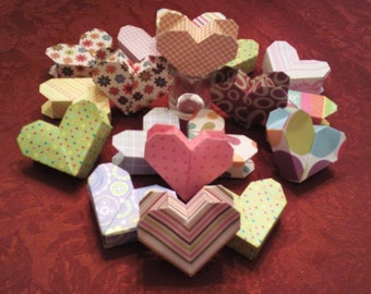 3D Origami Heart Boxes with Secret Compartment