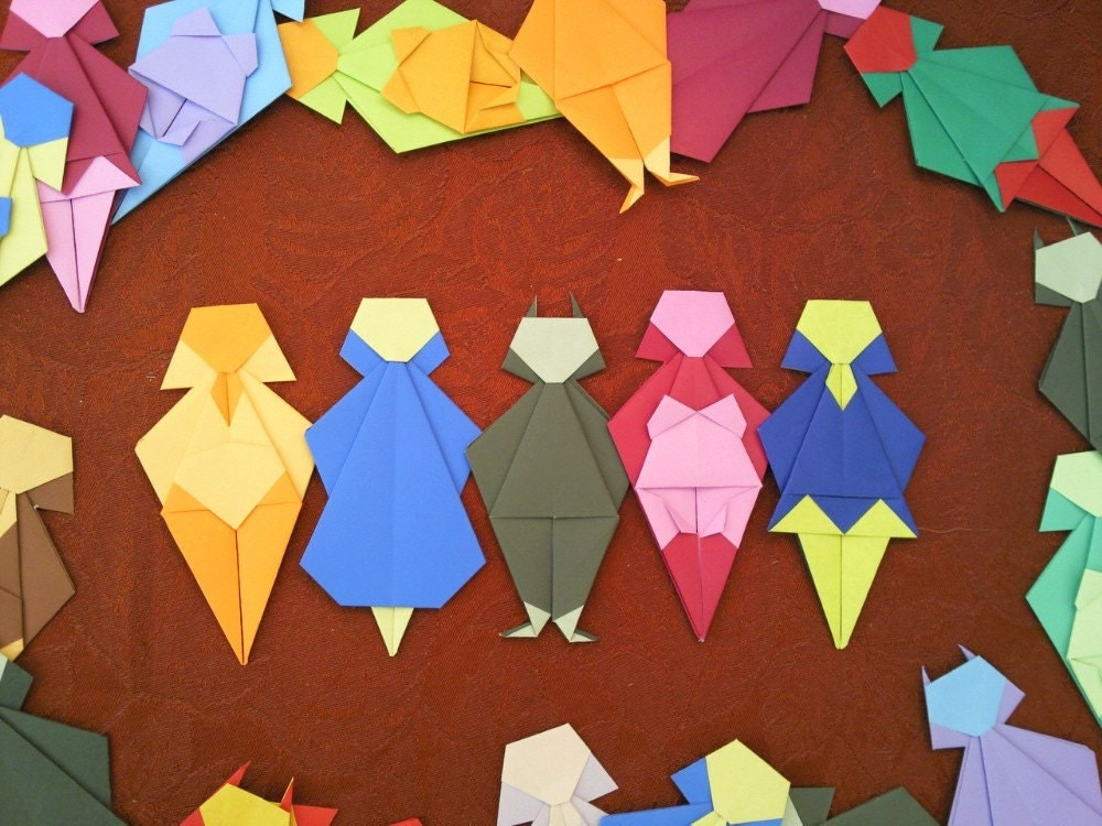 Origami Paper Party People Stereotypes Intended Girls