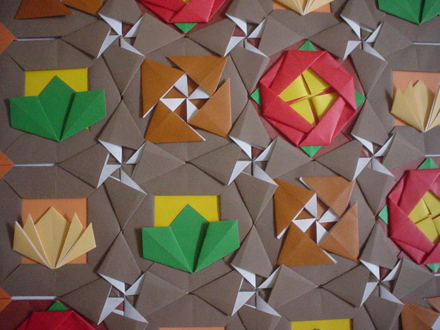 Paper Quilted Origami Mosaic Wall Art Chocolate By