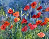 Poppies II Blank Notecards