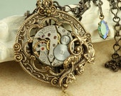 Steampunk Necklace Steampunk Jewelry Steampunk Pendant Steampunk Watch Necklace Victorian Steampunk Necklace Steampunk Jewellery Gears