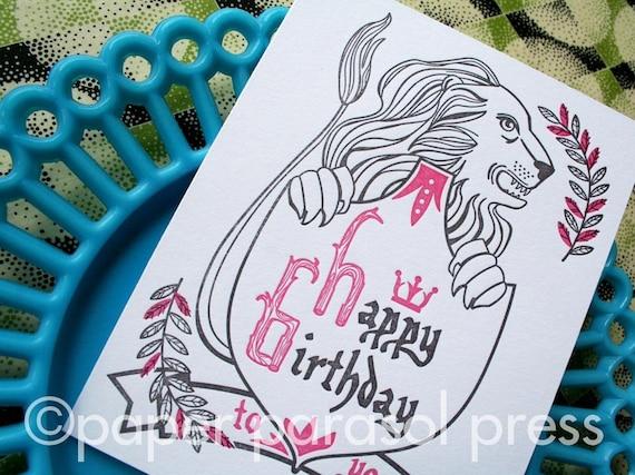 Happy Birthday Royal Shield Letterpress Card